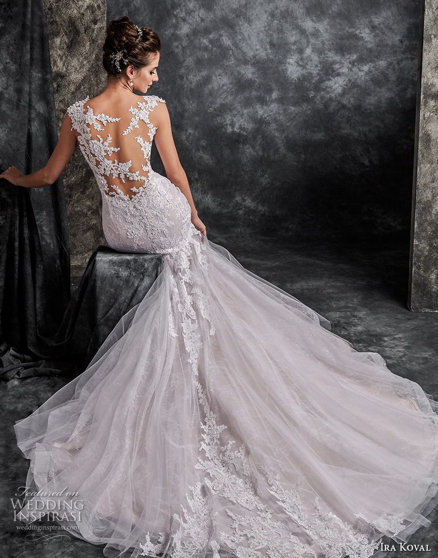 Ira koval wedding dresses lace bodice mermaid wedding