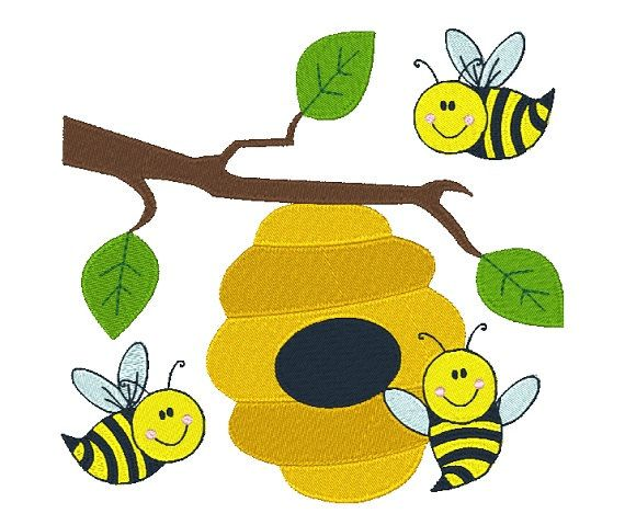 Busy Bees Machine Embroidery Design 012315 Honey by EmbroidDesigns