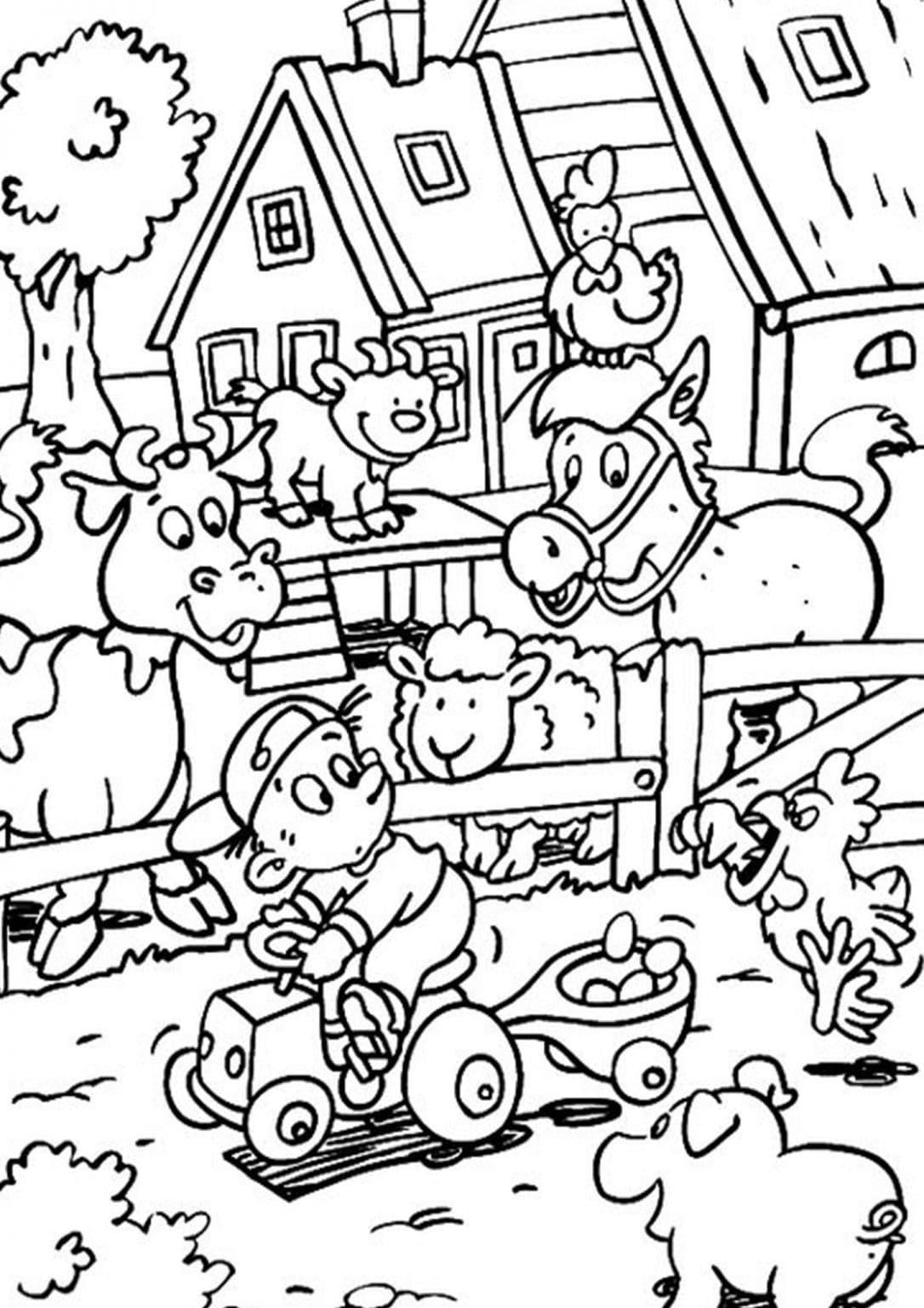 Free Easy To Print Farm Coloring Pages In 2021 Farm Coloring Pages Farm Animal Coloring Pages Coloring Pages