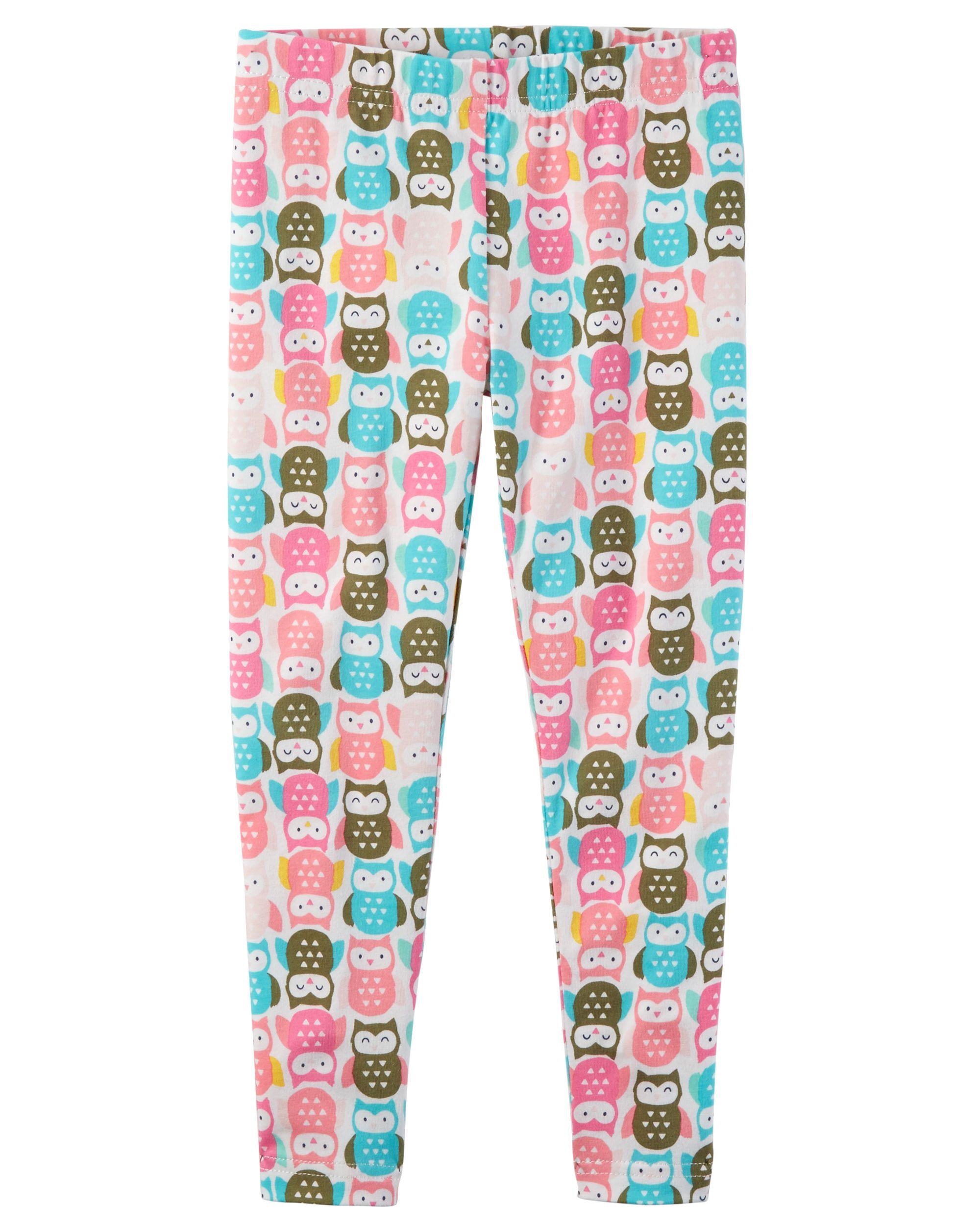 5bf4230ada04d1 Owl Print Leggings | Baby Harper | Carters baby girl, Printed ...