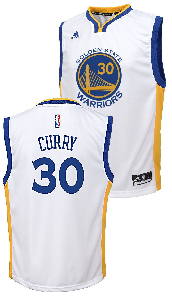 f3efb950e2d Stephen Curry Youth White Golden State Warriors Adidas Swingman Basketball  Jersey  74.95