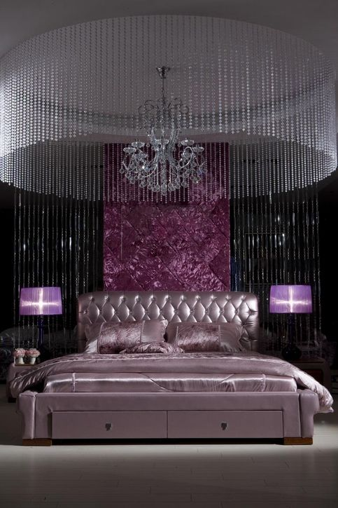 Amazing Luxury Dark Purple Bedroom Decorating Ideas Original Pinner I D Prefer Lighter Colors But The Idea Is Stunning