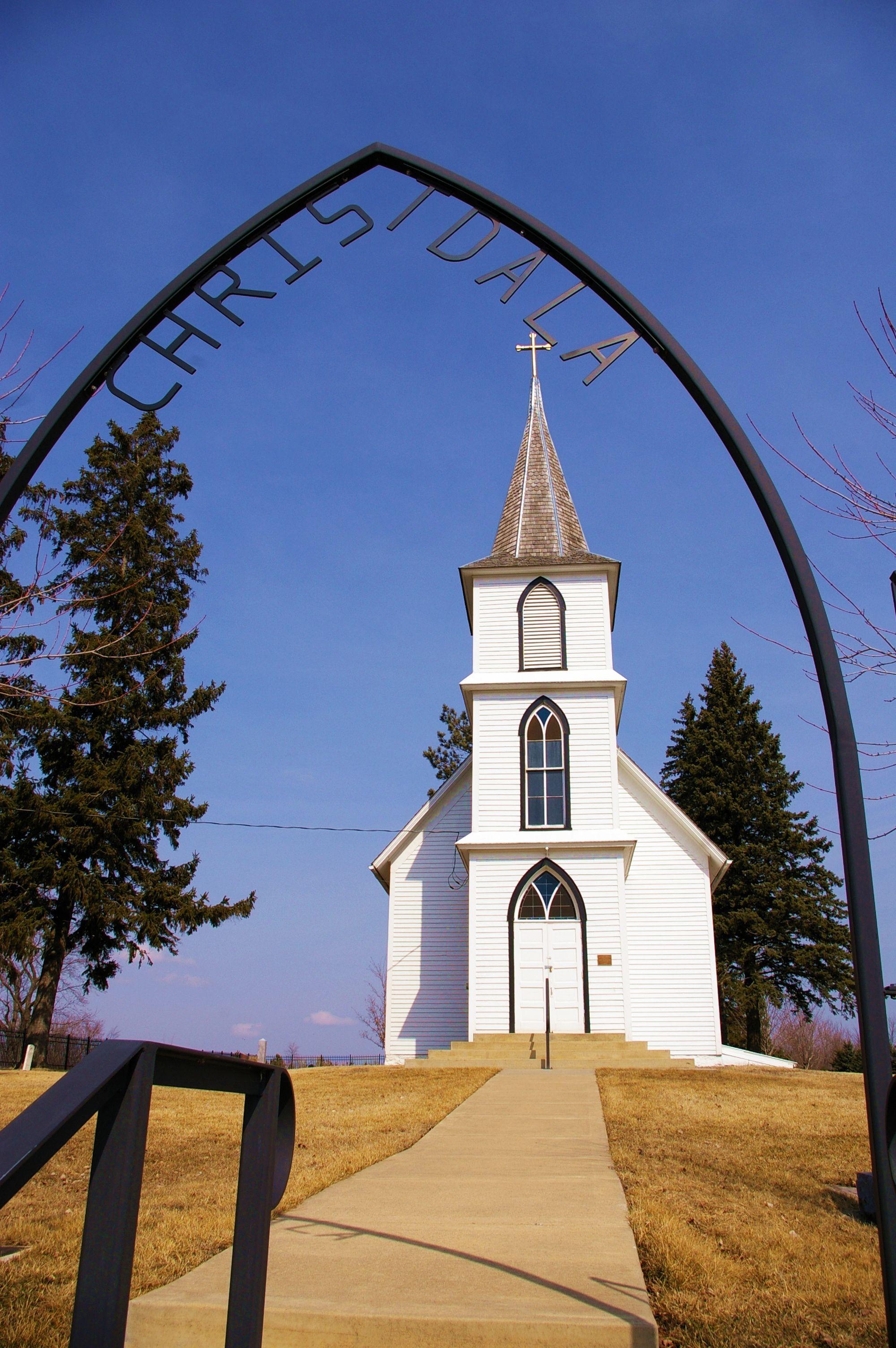 Christdala swedish lutheran church in rice county minnesota near millersburg it was built in