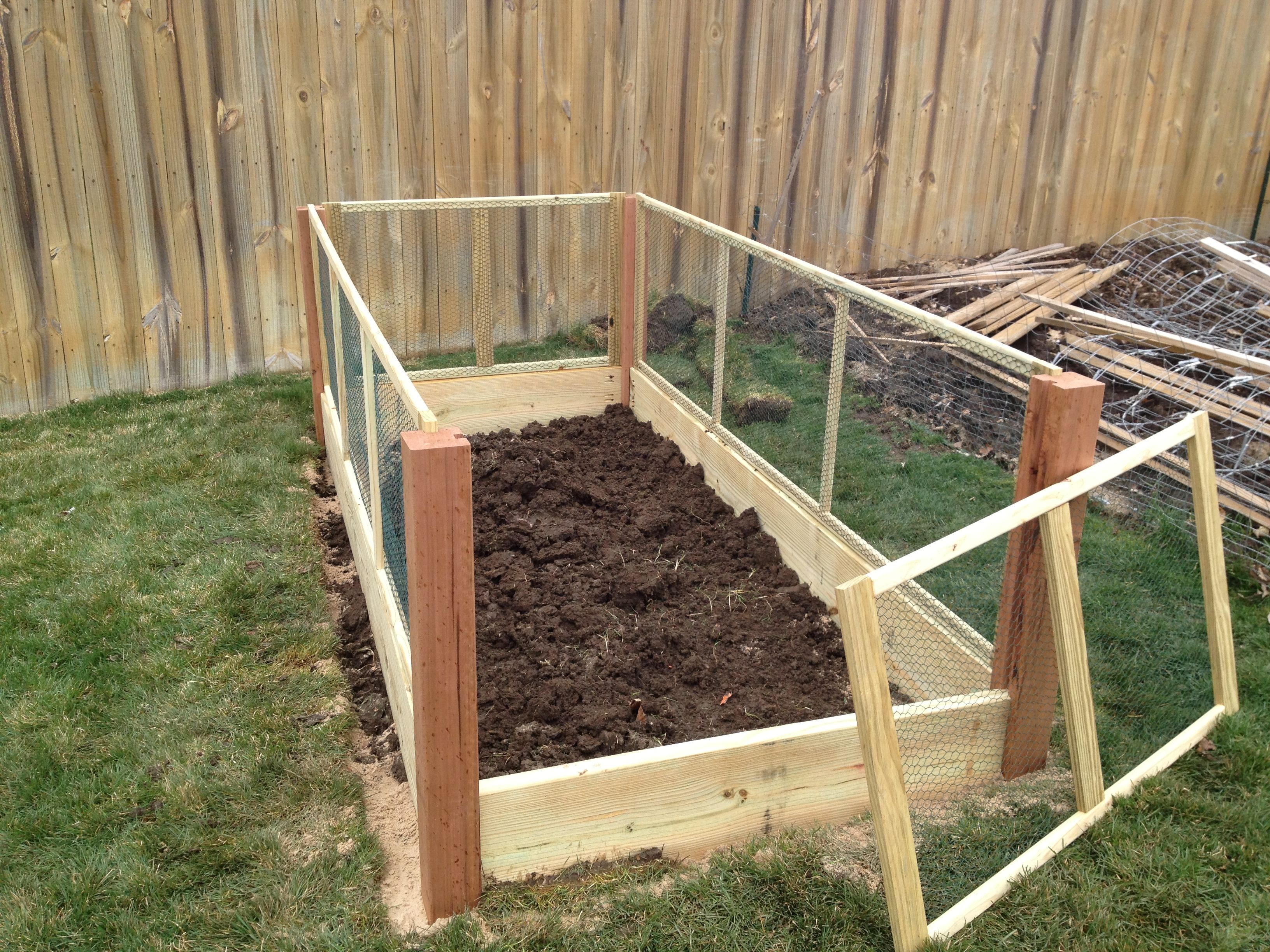 Removable Fence rabbits raised bed garden | installed next to my existing garden