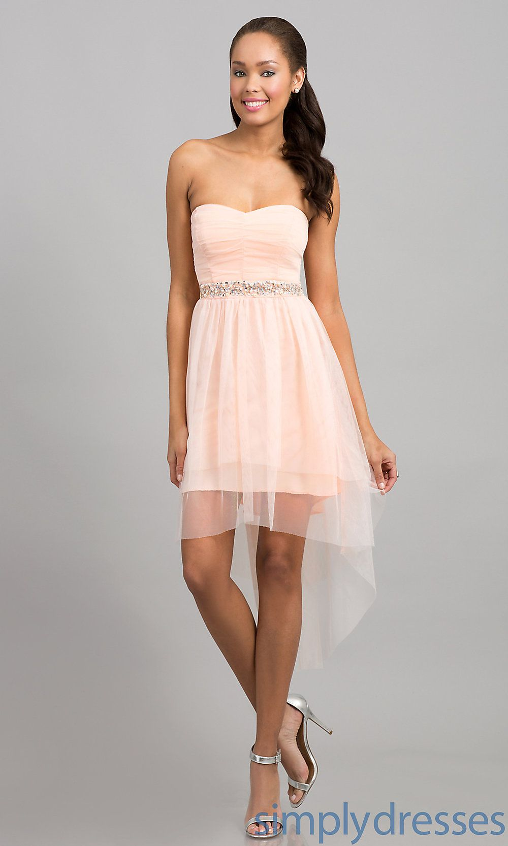 Strapless Ruby Rox Mullet Party Dress Simply Dresses Mullets