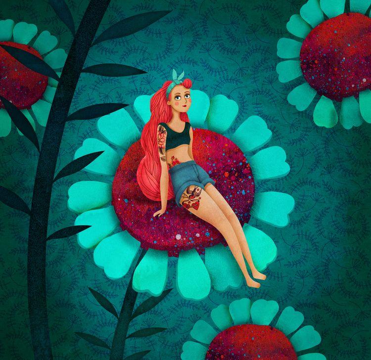 Посмотреть иллюстрацию Юлия Каменщикова - Дюймовочка.