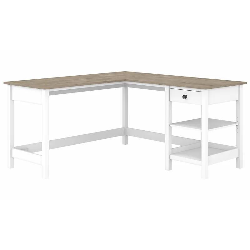 Jace L Shape Desk In 2020 Bush Furniture White L Shaped Desk L Shaped Desk