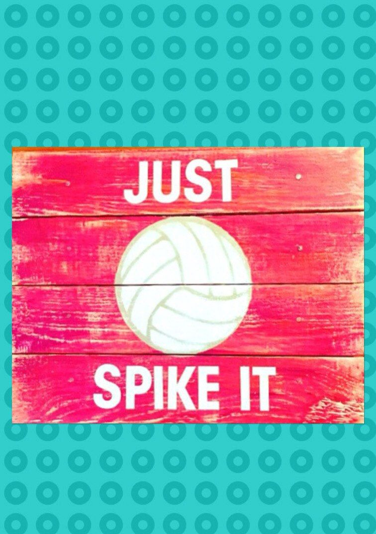 This Awesome Volleyball Sign Is The Perfect Wall Decor For A Girl S Bedroom Decor Words Are Powerful And Volleyball Signs Volleyball Gifts Volleyball Players