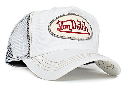 Von Dutch White Chris UnisexAdult Trucker Hat OneSize WhiteWhite     Be  sure to check e10b85359989