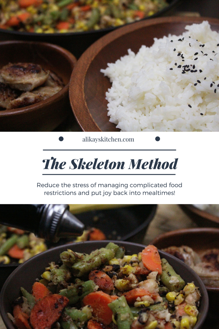 The Skeleton Method: Managing Complicated Food Restrictions with Ease