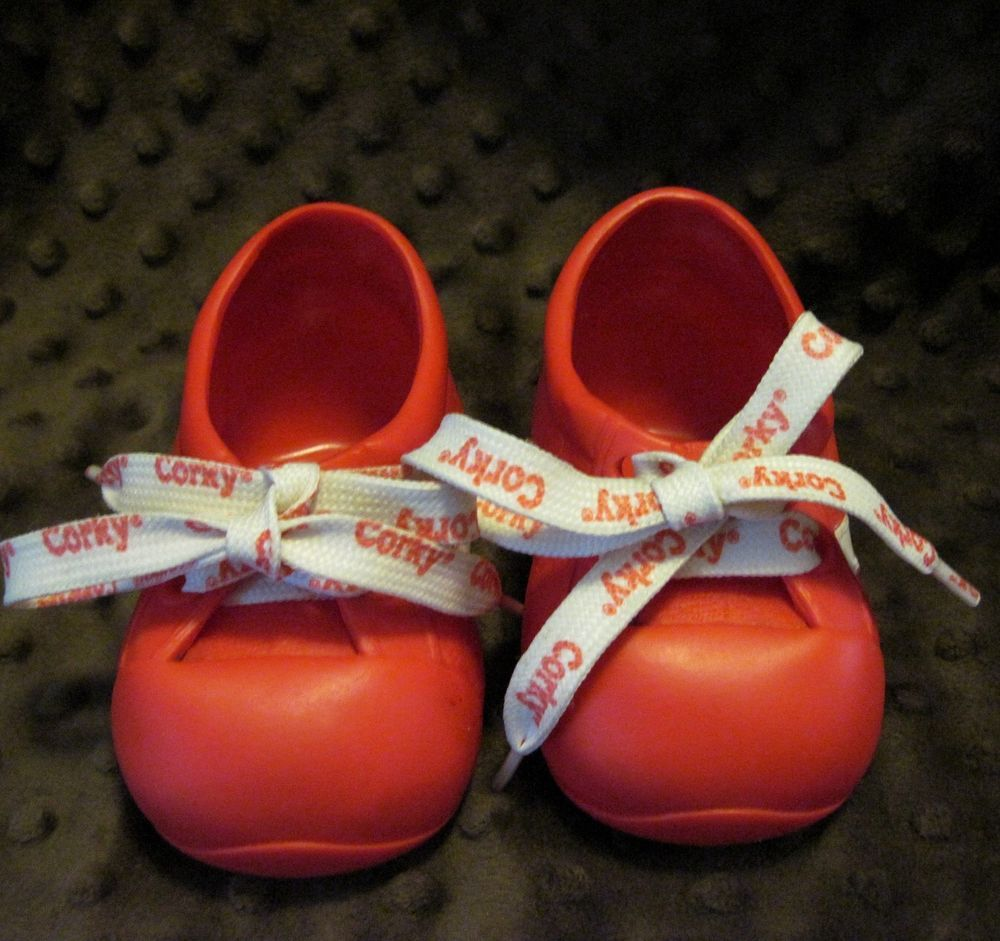 Replacement Original Shoes & Laces Red Tennis Corky Cricket's Brother Playmates #ClothingAccessories #Corky #Cricket #Playmates #1980s #vintagetoys