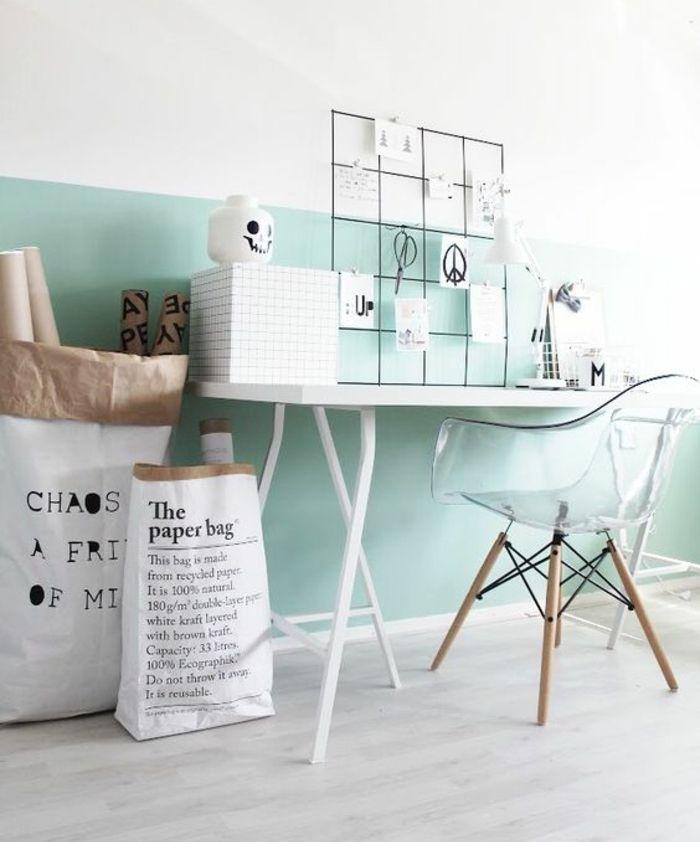 ▷ 1001 + conseils et idées pour une déco couleur vert d\u0027eau - peindre un mur en bois