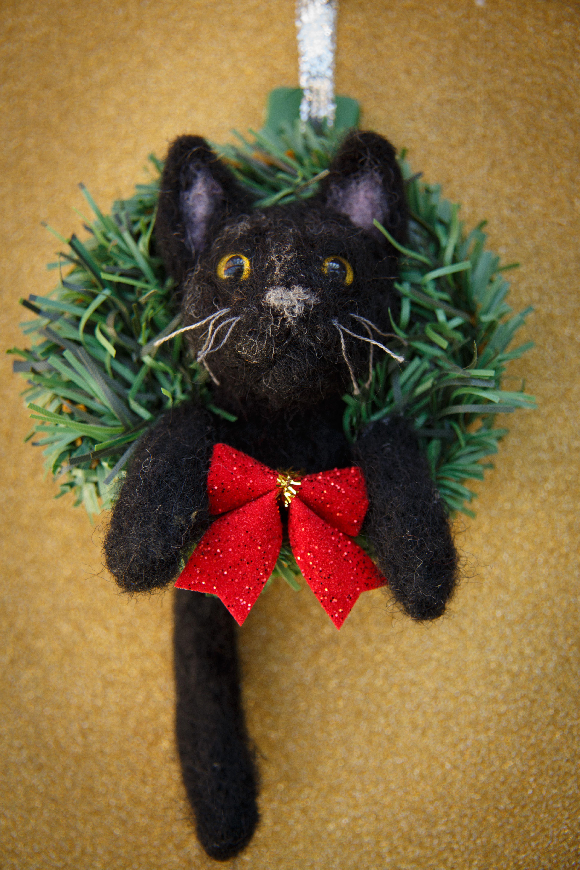 Cat Ornament Hearts
