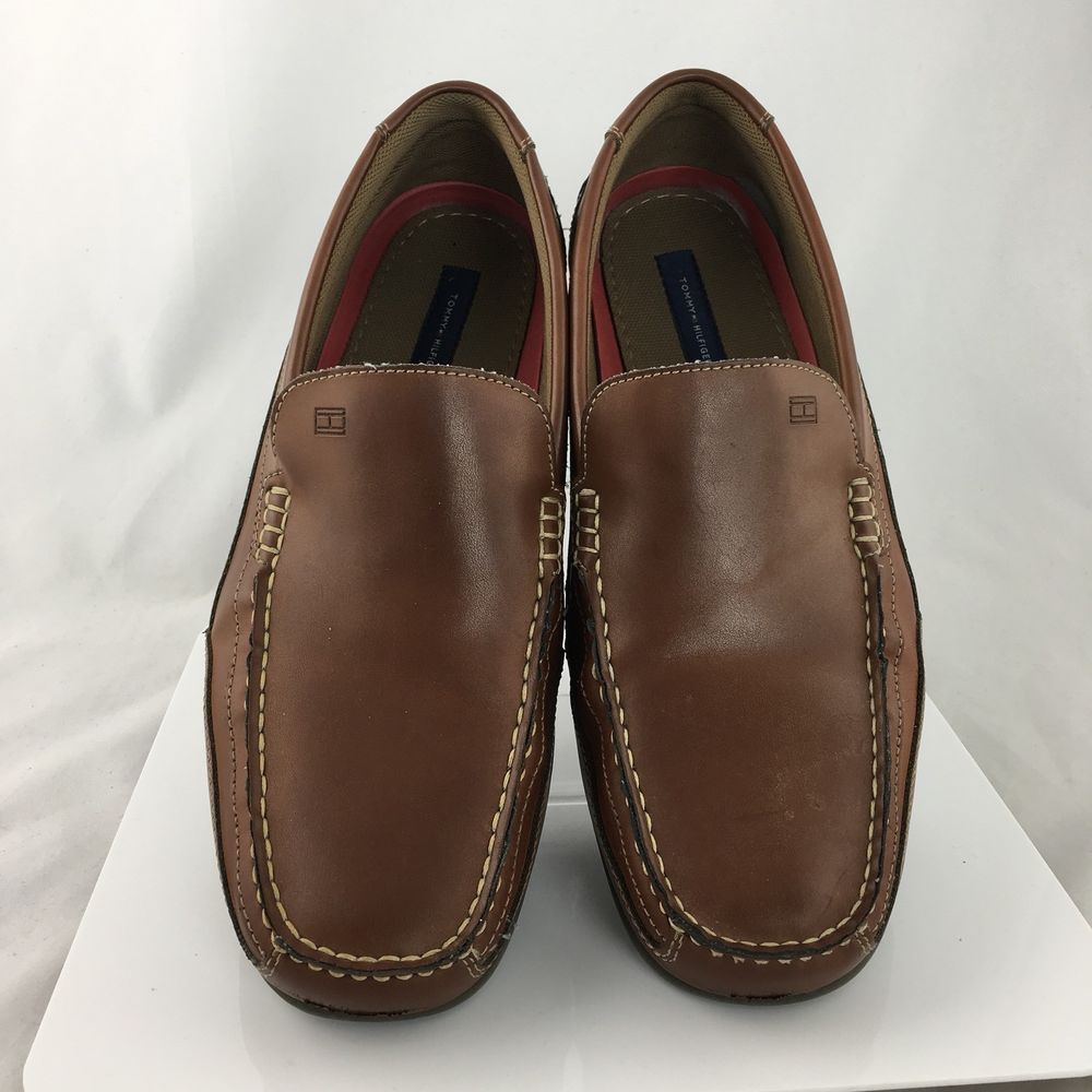 d3291ff53 Tommy Hilfiger Dathan Mens Loafers Driving Mocs shoes brown size 13 casual   TommyHilfiger  LoafersSlipOns