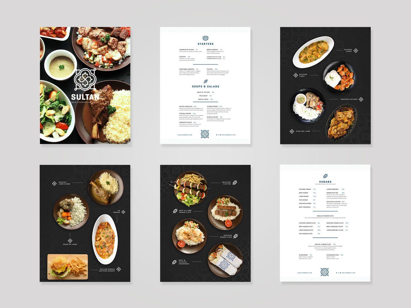 Design | Branding & Strategy | Menu Designs | Sultan Mediterranean Grill