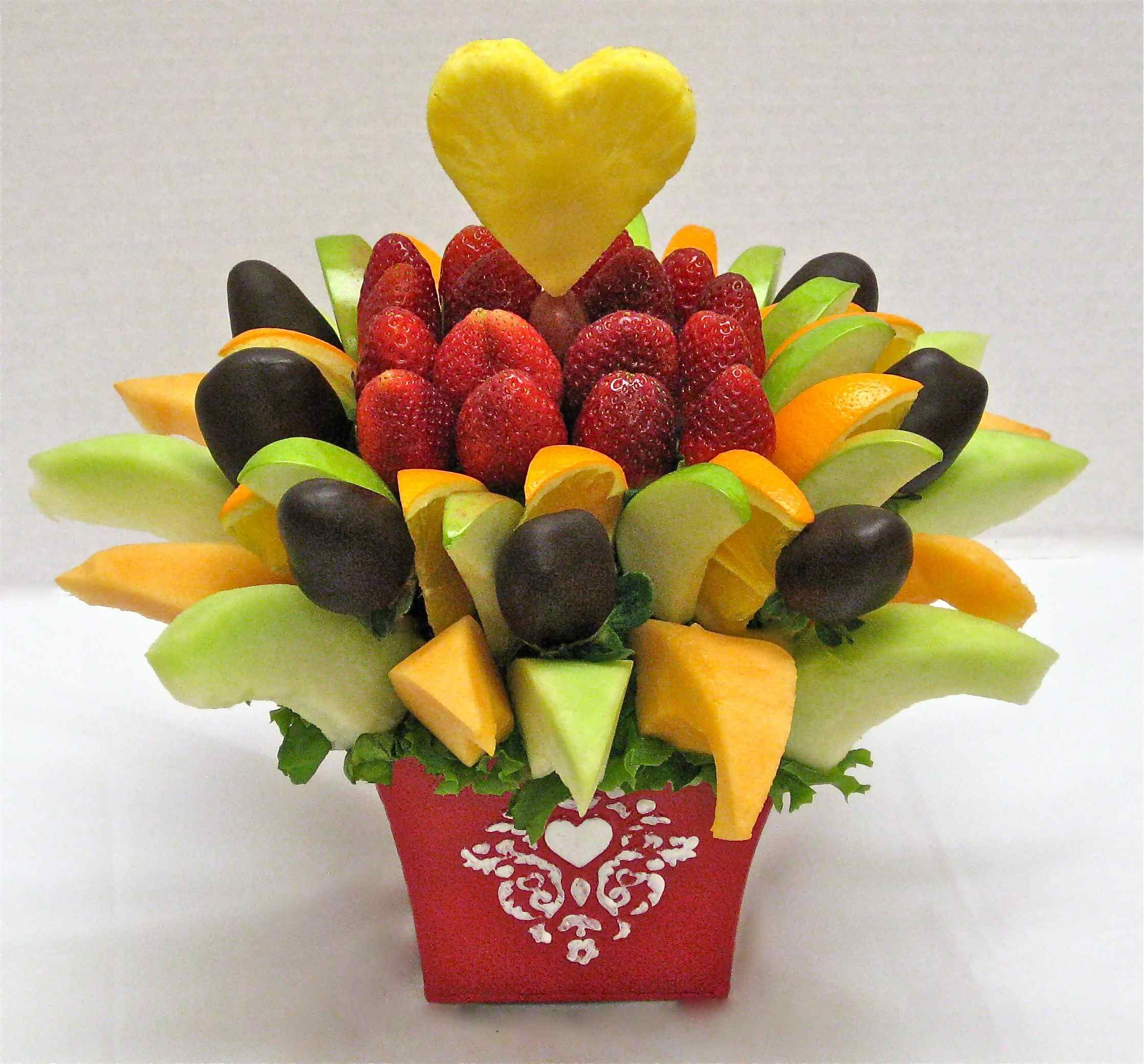 How to make a do it yourself edible fruit arrangement Fruit bouquet