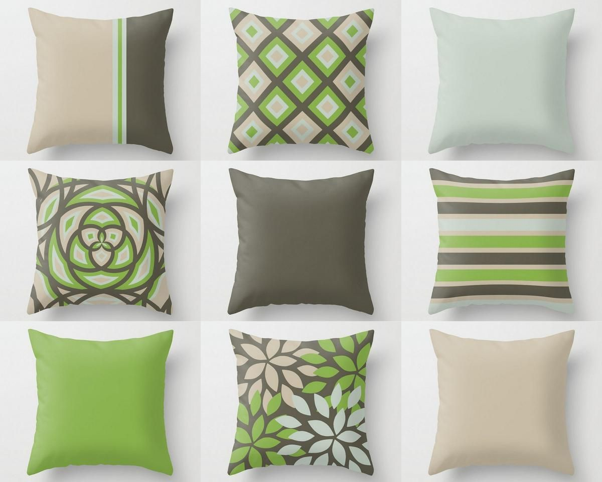 Outdoor Pillows In 9 Different Mix And Match Designs All Designed