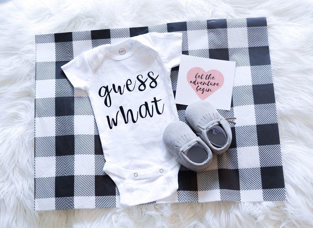 Pregnancy Reveal Surprise Announcement Baby Due Custom Box Photography Bodysuit