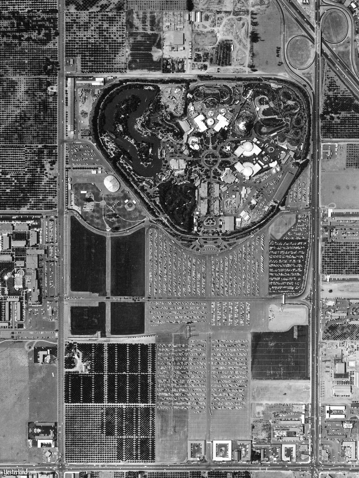 1960 - Disneyland Aerial. Holidayland