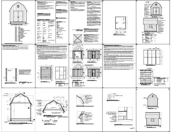 Gambrel Storage Shed Plans 10x12