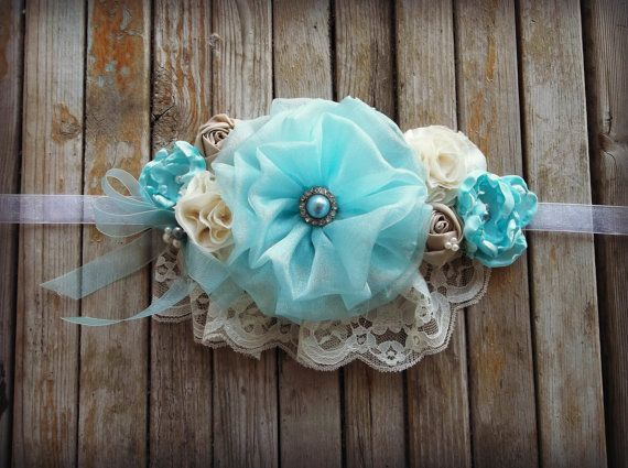 Blue Maternity Sash Maternity Photo Prop by simplycutieful on Etsy, $30.00
