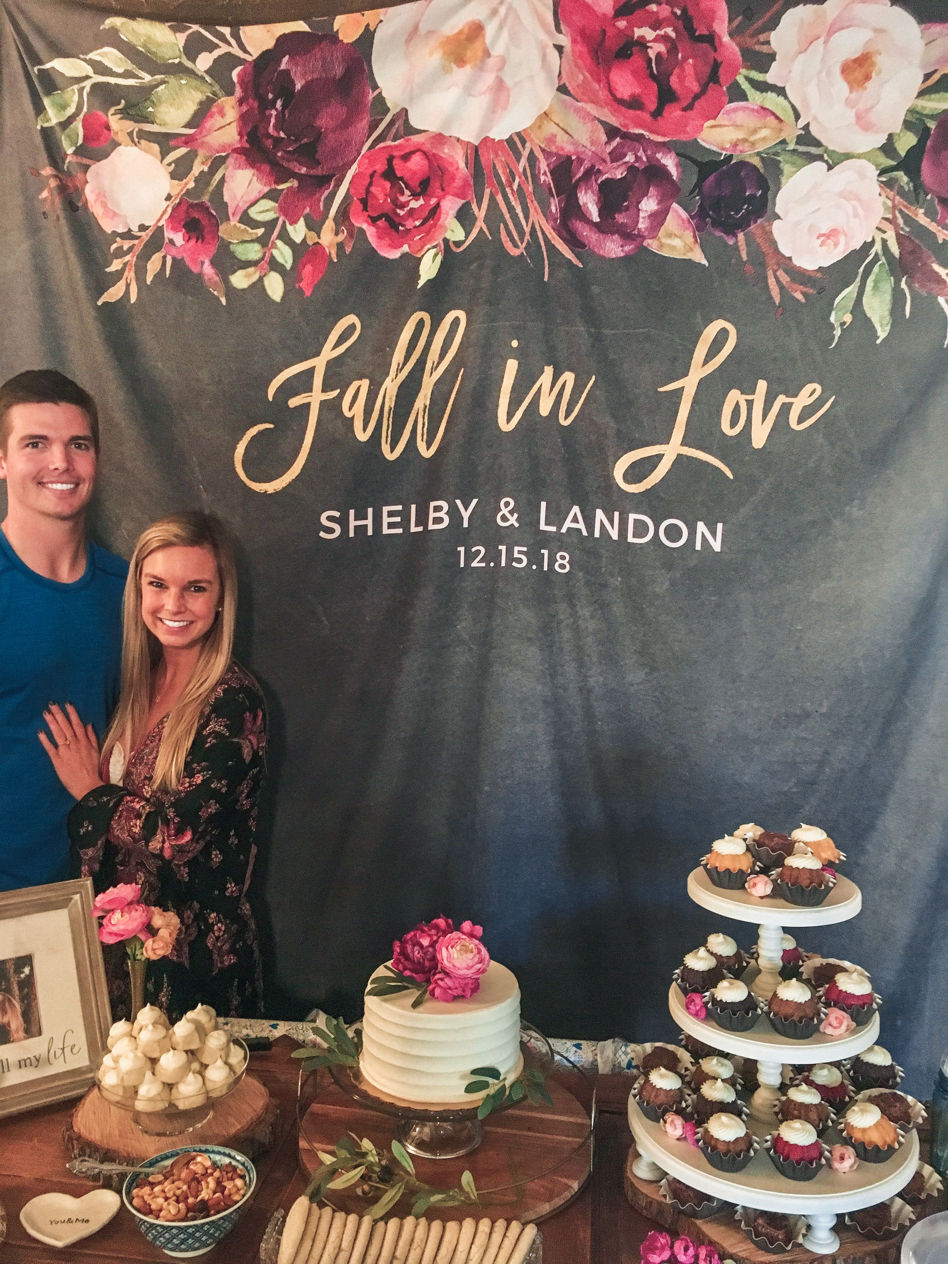 Fall In Love Wedding Banner Autumn Wedding Photo Booth Backdrop Fall Engagement Party Decorations Engagement Party Decorations Fall Engagement Parties