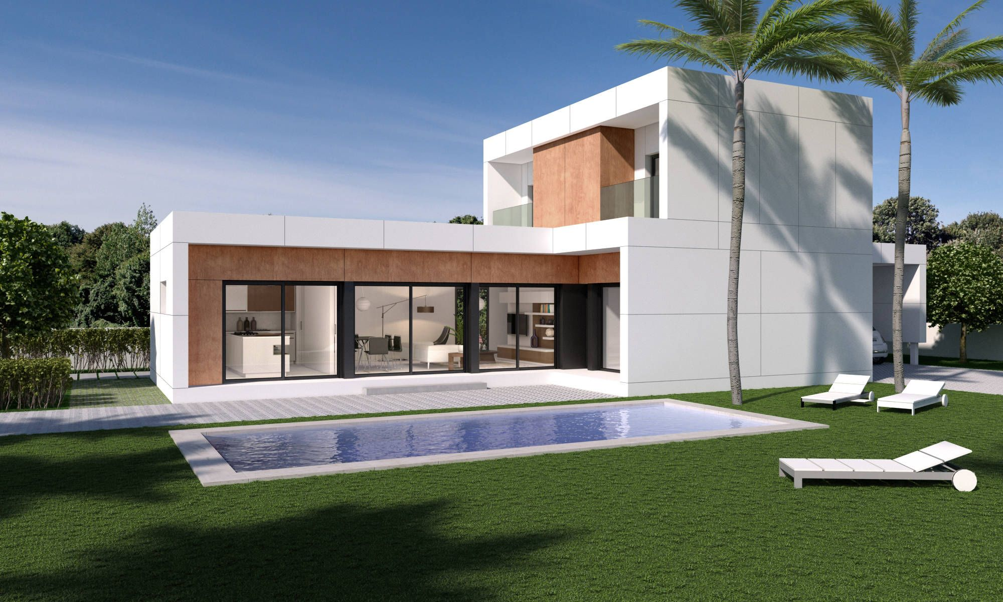 Vivienda modular 206 m2 de nuño arquitectura moderno