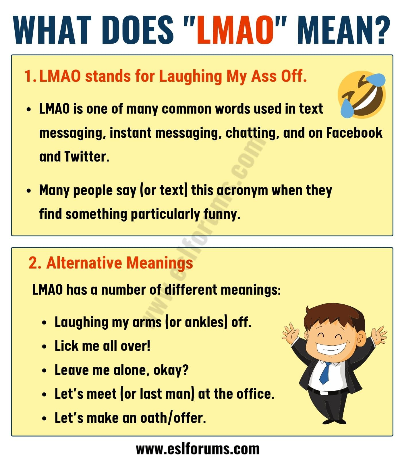 What Does LMAO Mean in Texting? ROFL, BFF, IMO & More