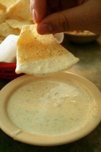 Chuy's Creamy Jalapeno sauce and tortilla chips #Chips #Dips #Salsa #Potato #Kettle #Corn #Rice