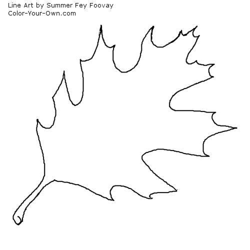 Oak Leaf Coloring Page Quilt Applique Ideas Leaf Coloring Page