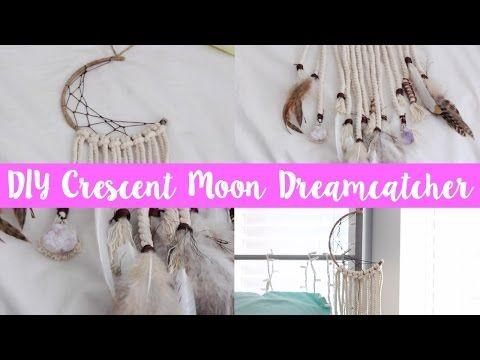 Stnkrbug: DIY Crescent Moon Dreamcatcher