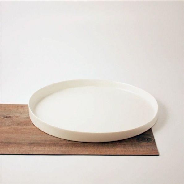 Ceramic Round Tray White White Serving Tray Round Tray Tray