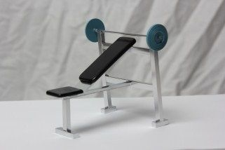 Dollhouse miniature handcrafted Medical Exercise Treadmill 1//12th scale