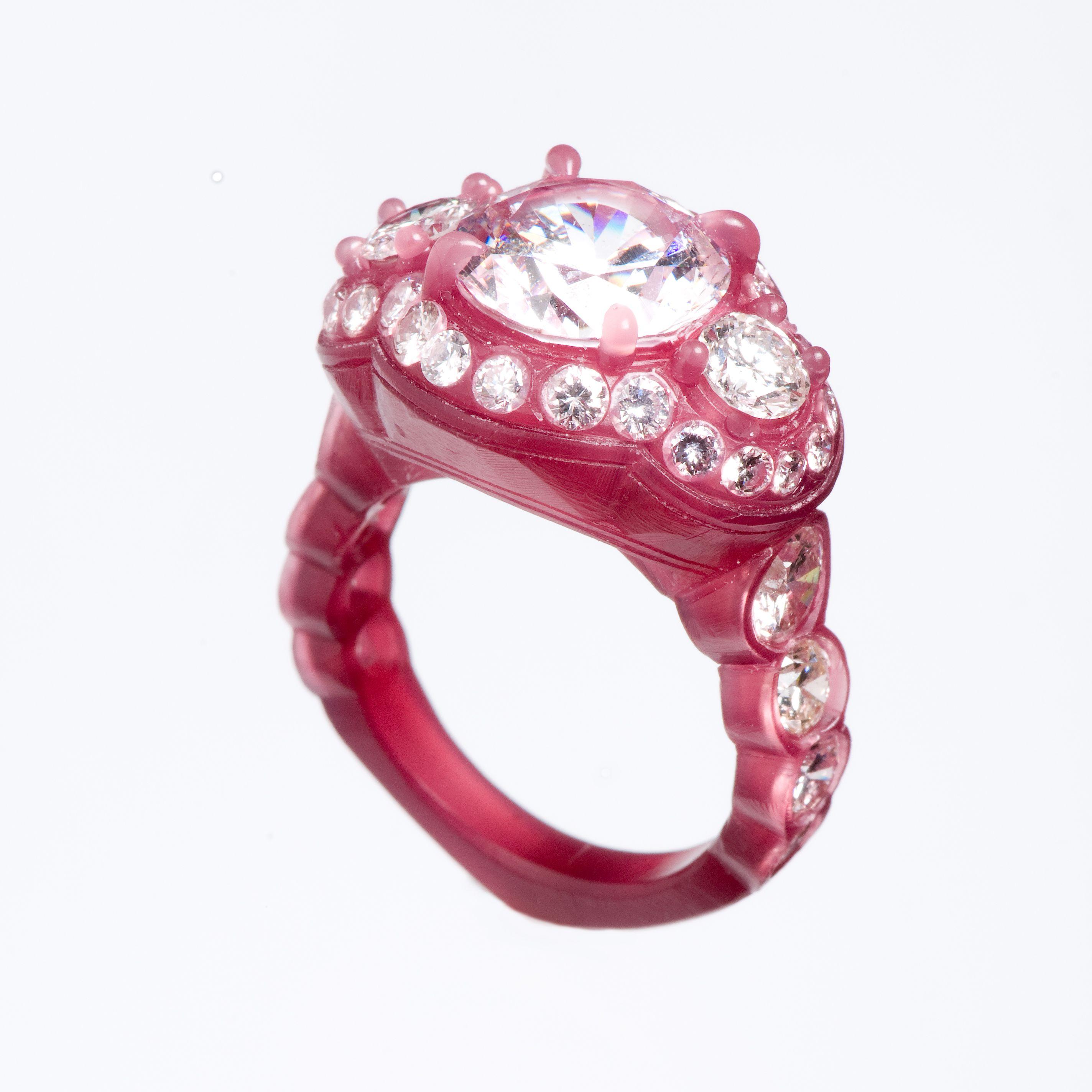 JPratt Designs: Custom carved wedding ring with a round center ...
