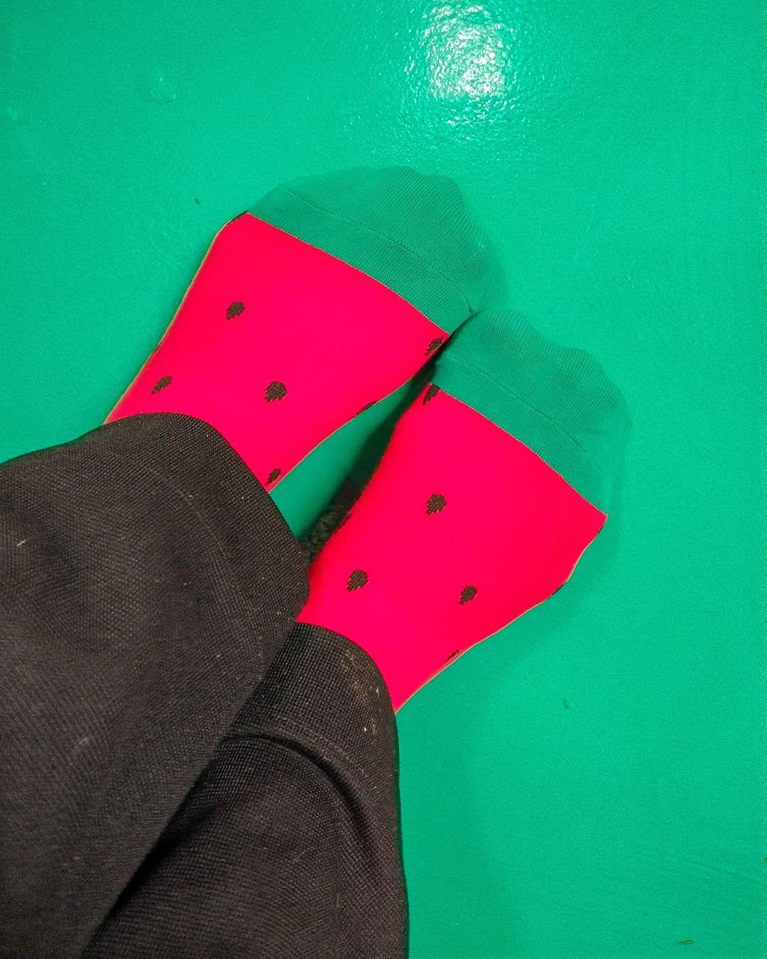 hola watermelon sock ready
