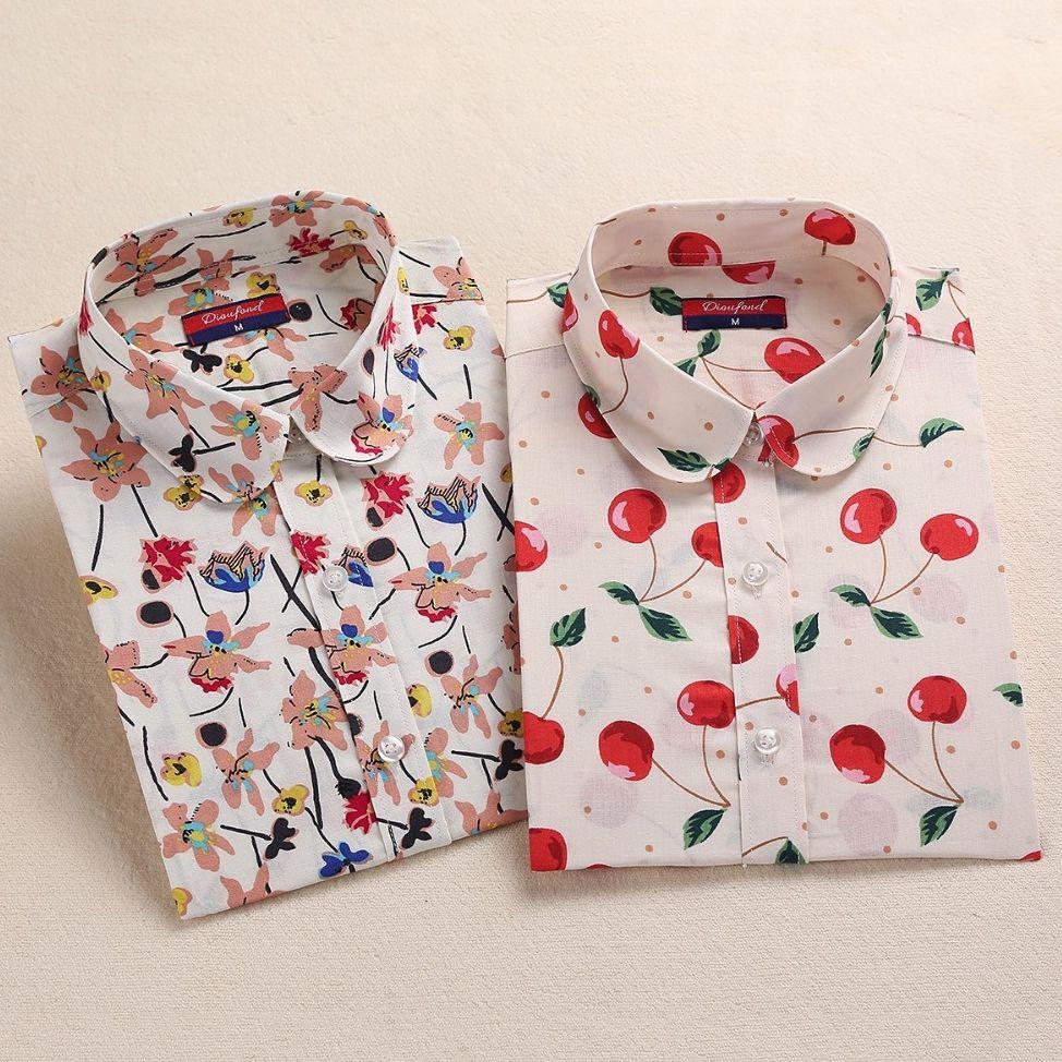 부족 프린트 블라우스 여성 빈티지 셔츠 긴 소매 탑 여성 꽃 blusas 플러스 사이즈 5xl 패션 여성 clothing