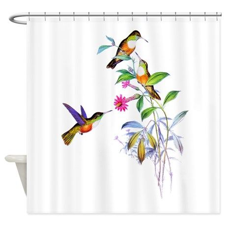 Hummingbirds Shower Curtain By Grant Devereaux Cafepress In 2020