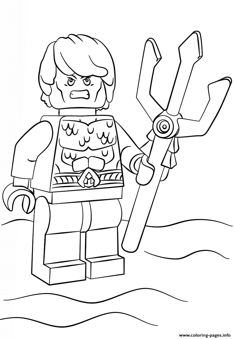 Print lego aquaman coloring pages Lego coloring pages