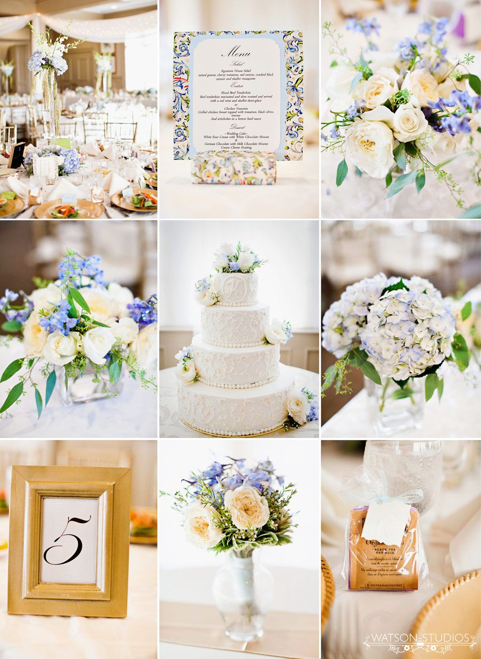 All white church wedding decor love love the white brightness and the touch of blue  Wedding Decor