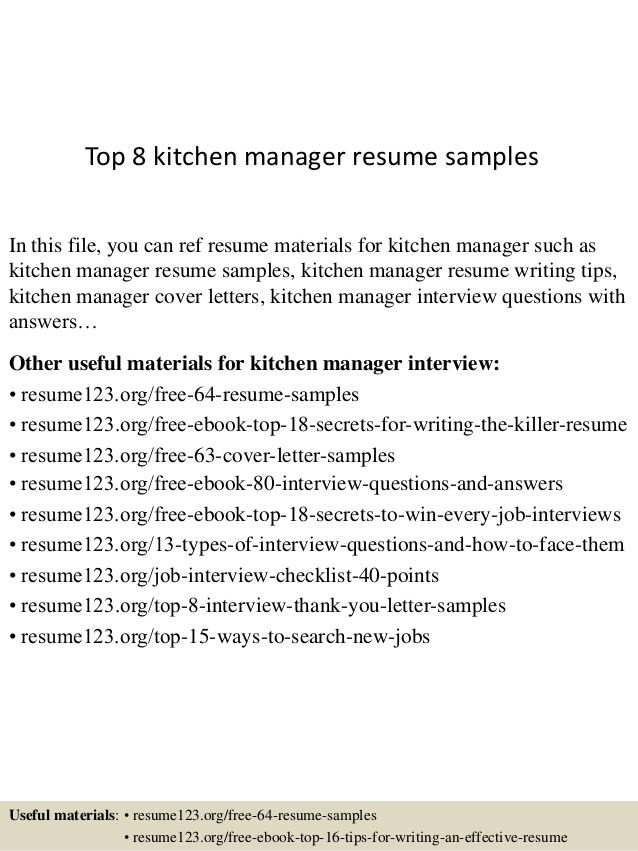 Materials Manager Resume For Kitchen Manager  Pinterest  Resume Examples And Sample Resume