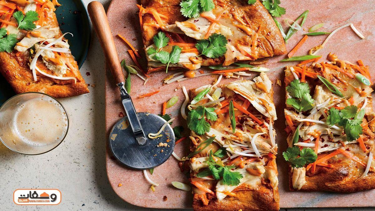 أناقة مغربية بيتزا بعجين اللبن طايبة فوق المقلاة كتجي بحال ديال المحلات Food Breakfast Hawaiian Pizza
