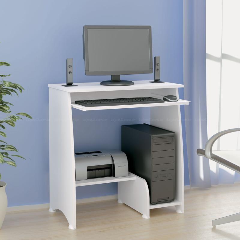Compre Escrivaninha Mesa Para Computador Pixel Branco Artely Em