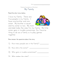Worksheet Simple Stories Worksheets reading comprehension worksheet classroom pinterest this beginner tells a simple story about having picnic kids are asked to circle the correct an