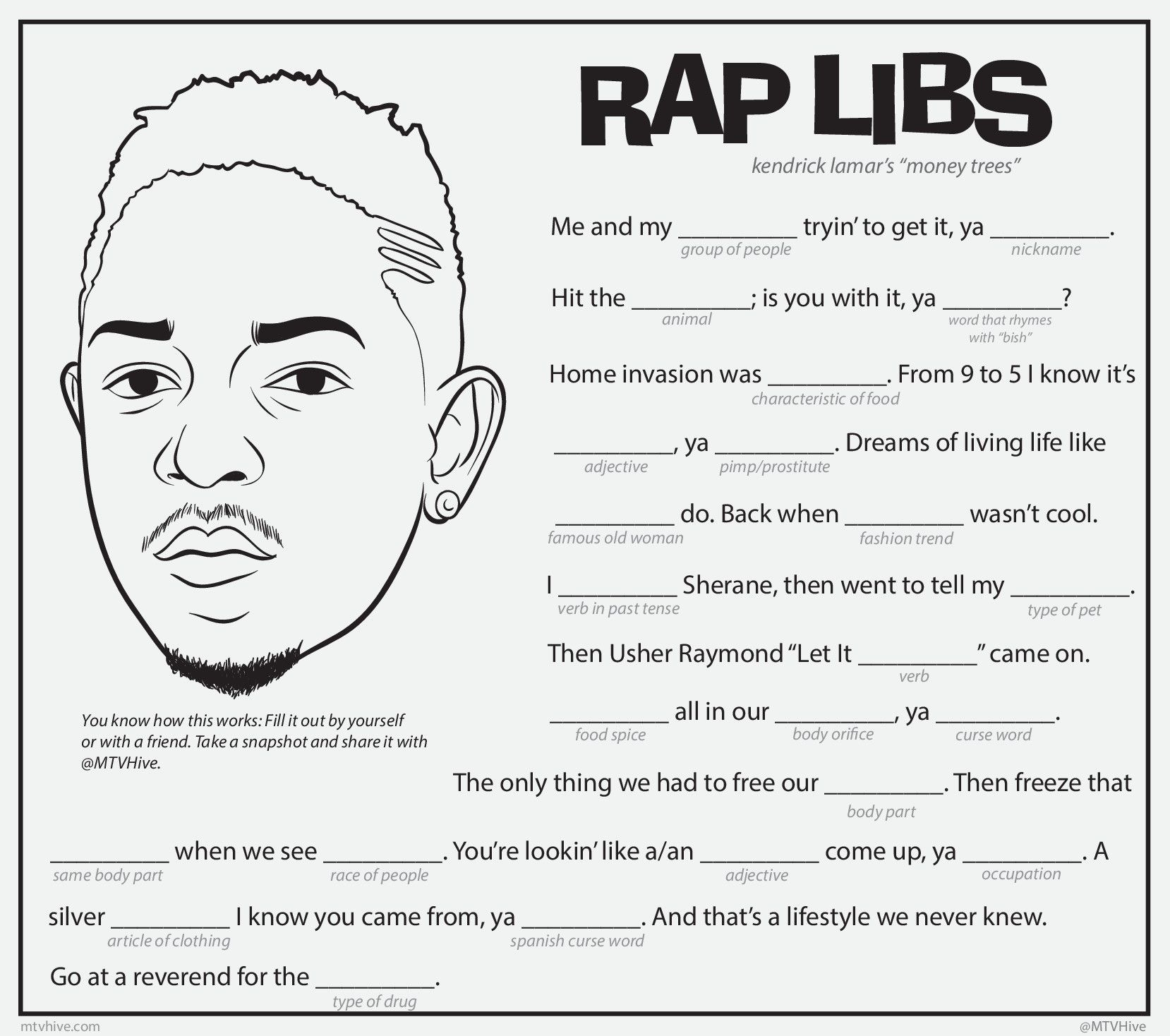 Play Rap Libs With Kendrick Lamar S Money Trees