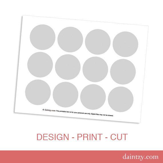 Cupcake Template Design : Cupcake Topper Printable Template - DIY Make Your Own ...
