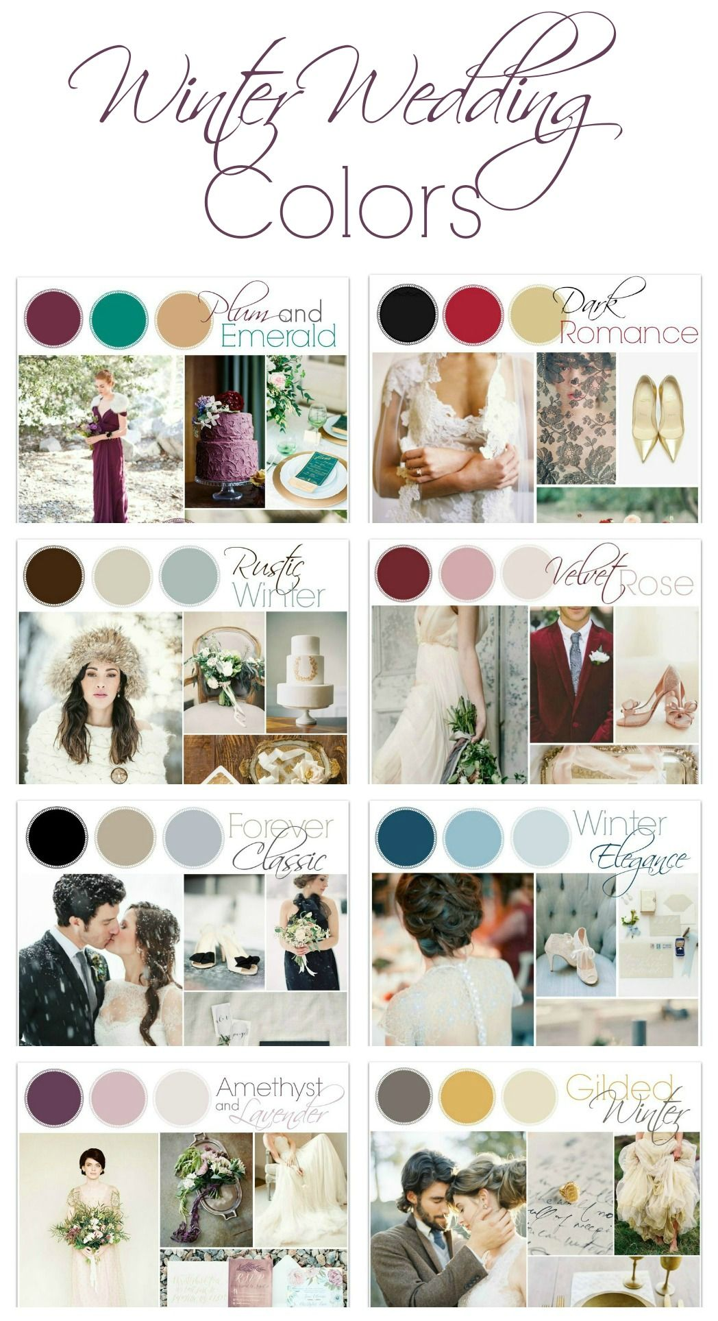 Winter wedding color ideas winter weddings winter and weddings