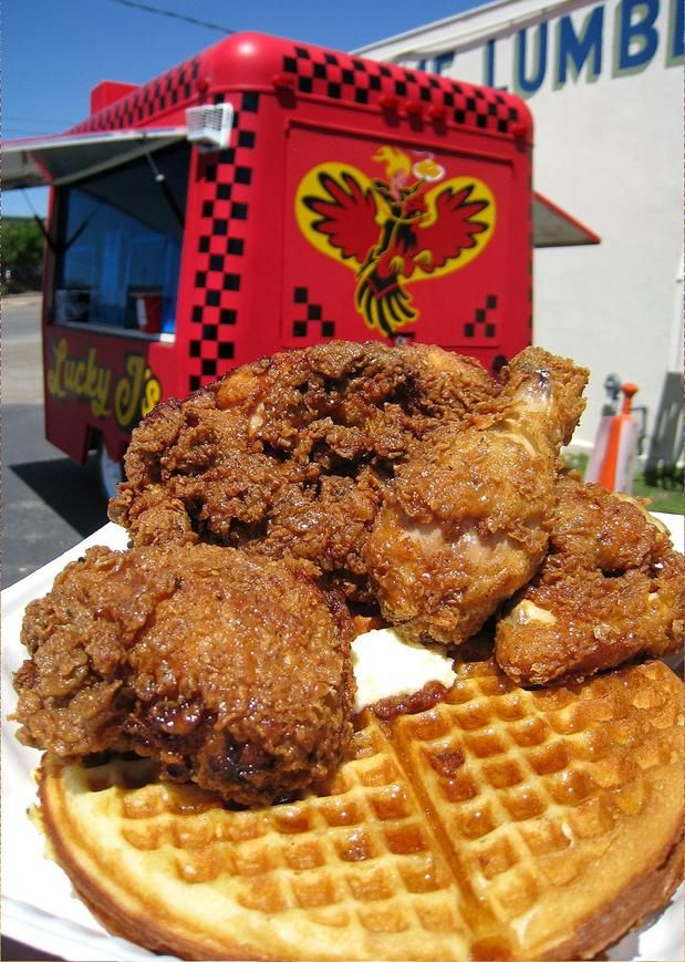 The Food Truck Kitchen Fried Chicken Waffles From Eat St Recipes