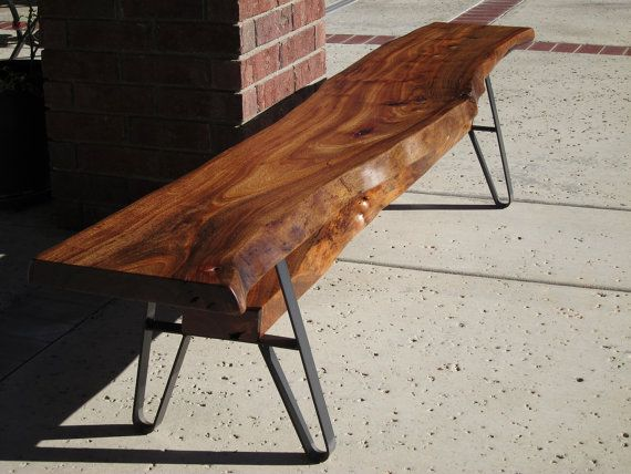 Marvelous Long Dining Table Bench Live Edge Solid Wood Slab By Machost Co Dining Chair Design Ideas Machostcouk