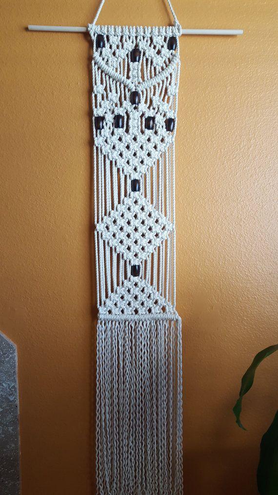 Colgante de pared del macrame macrame hechos a mano - Decoracion para el hogar ...