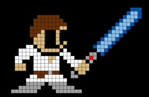 Luke Skywalker Pixel Art Pixel Art Art 8 Bit Art
